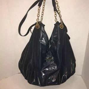 Bimba & Lola Spain Green PU Hobo Handbag XL